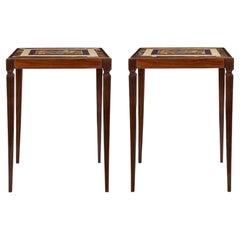 Pair of Italian 19th Century Louis XVI St. Side Tables