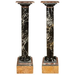 Pair of Italian 19th Century Marble Pedestal Columns