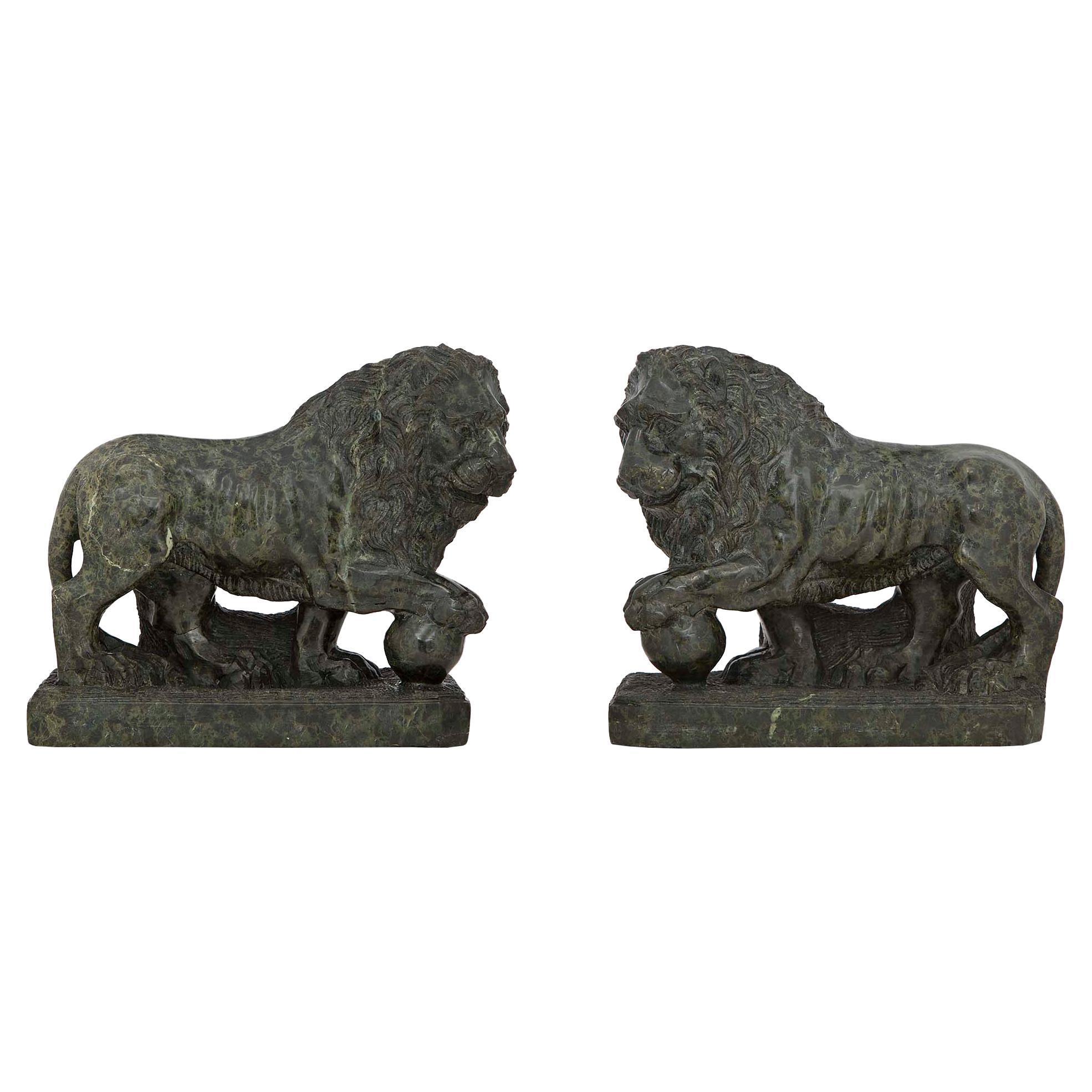 Pair of Italian 19th Century Marble Statues