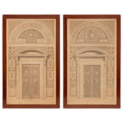 Pair of Italian 19th Century Neoclassical Style Prints