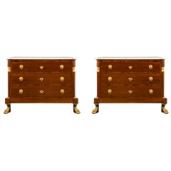 Pair of Italian 19th Century Neoclassical Style Chests