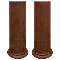 Pair of Italian 19th Century Neoclassical Style Columns
