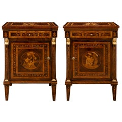 Pair of Italian 19th Century Neoclassical Style Commodes