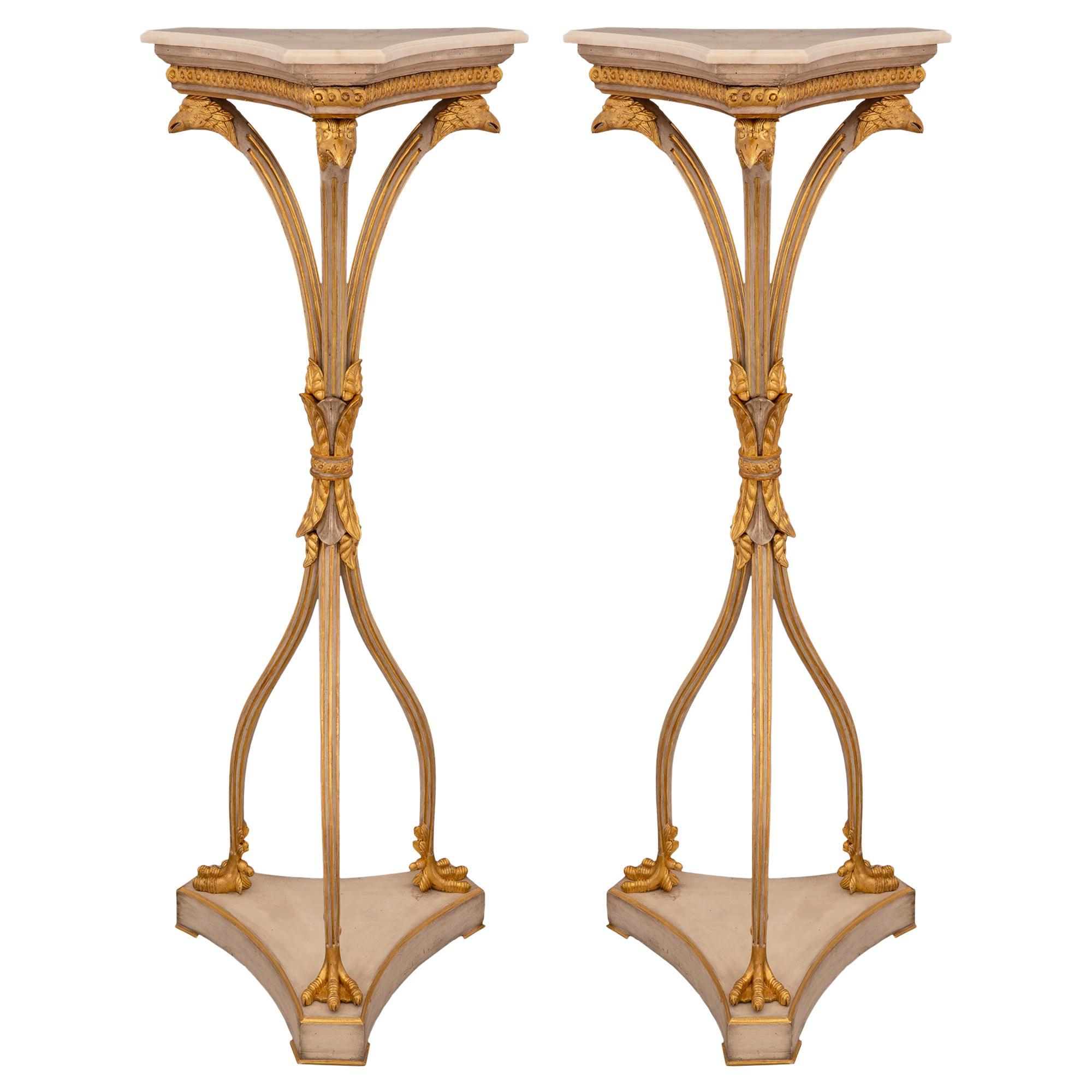 Pair of Italian 19th Century Neoclassical Style Pedestals
