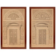 Pair of Italian 19th Century Neoclassical Style Prints