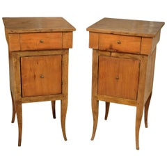 Pair of Italian 19th Century Nightstands or Side Cabinets