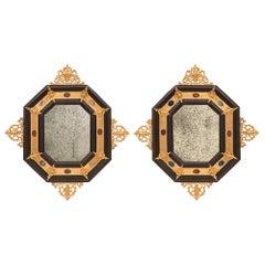 Pair of Italian 19th Century Renaissance St. Napoleon III Period Mirrors