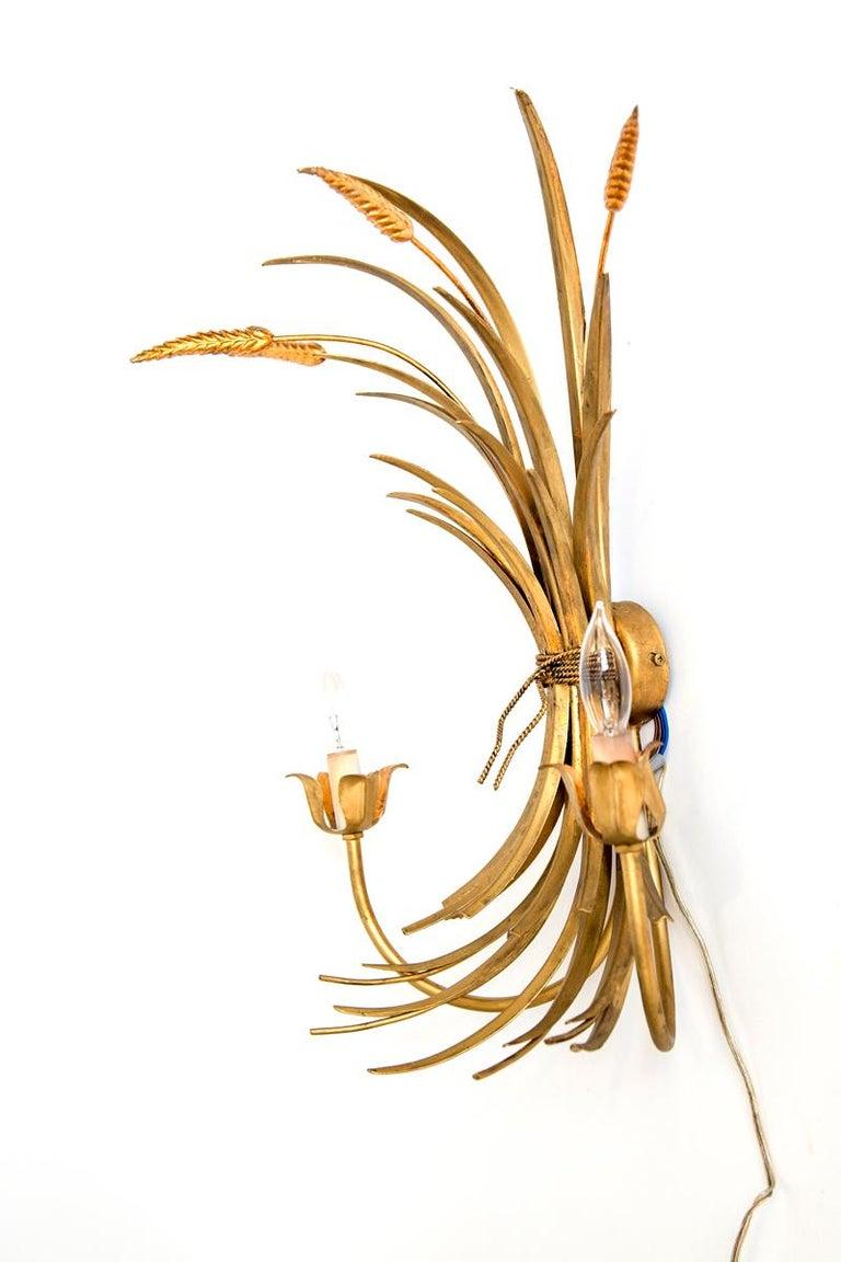 Pair of Italian 20th Century Wheat Motif Appliqués For Sale 1