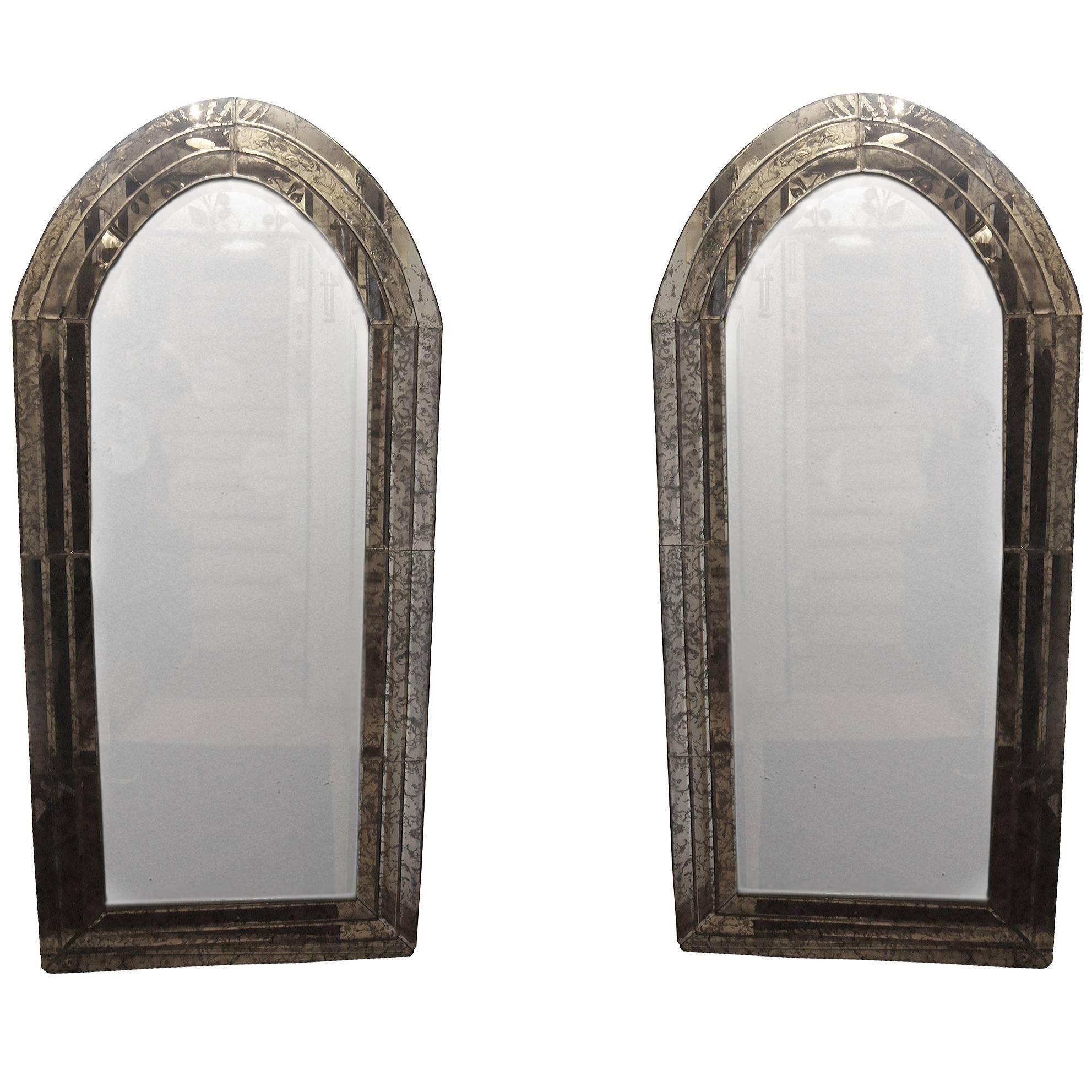 Pair of Italian Arched Mirrors
