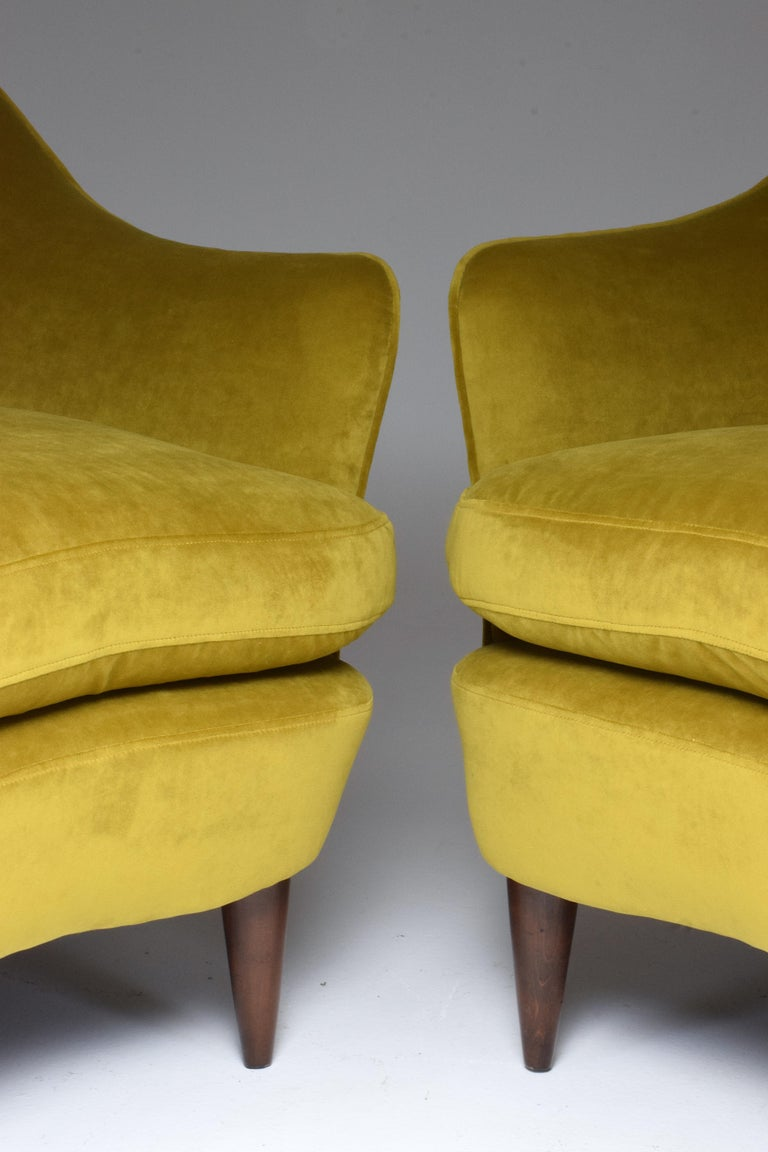 Pair of Italian Armchairs by Gio Ponti for Casa e Giardino, 1930s For Sale 7