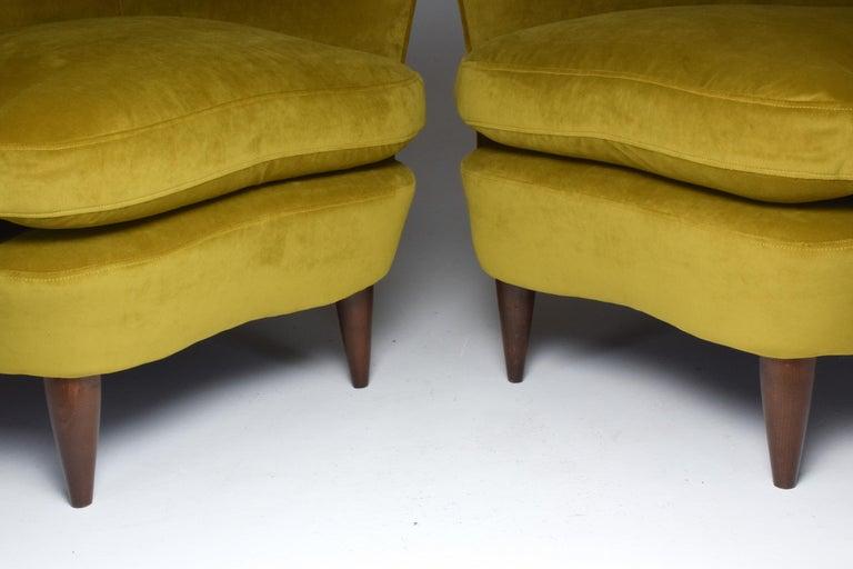 Pair of Italian Armchairs by Gio Ponti for Casa e Giardino, 1930s For Sale 8