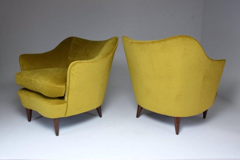 Pair of Italian Armchairs by Gio Ponti for Casa e Giardino, 1930s For Sale 1