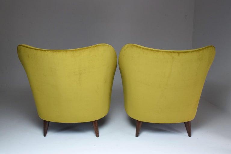 Pair of Italian Armchairs by Gio Ponti for Casa e Giardino, 1930s For Sale 2
