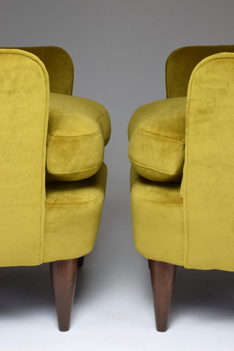 Pair of Italian Armchairs by Gio Ponti for Casa e Giardino, 1930s For Sale 3