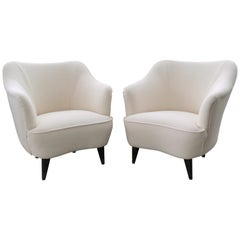 Pair of Italian Armchairs by Gio Ponti for Casa e Giardino, 1930s