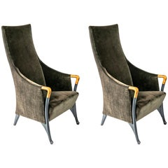 Pair of Italian Armchairs by Giorgetti