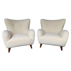 Pair of Italian Armchairs by Melchiorre Bega, Italy, 1950s