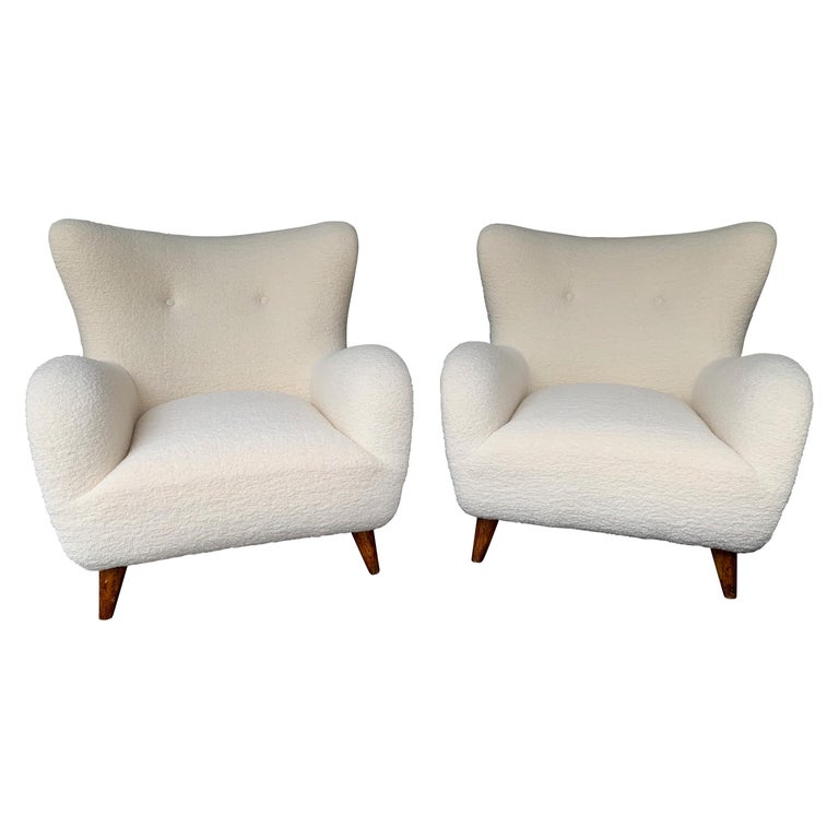 Pair of Italian Armchairs by Melchiorre Bega, Italy, 1950s For Sale