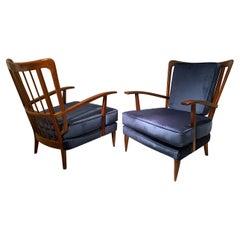 Pair of Italian Armchairs by Paolo Buffa