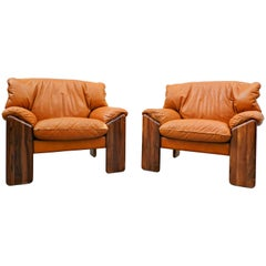 Pair of Italian Armchairs by Sapporo for Mobil Girgi, 1970s