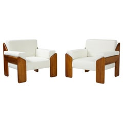 Pair of Italian Armchairs by Sapporo for Mobil Girgi, 1970's
