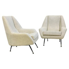 Pair of Italian Armchairs, circa 1950