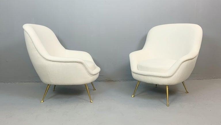 Pair of Italian armchairs.
