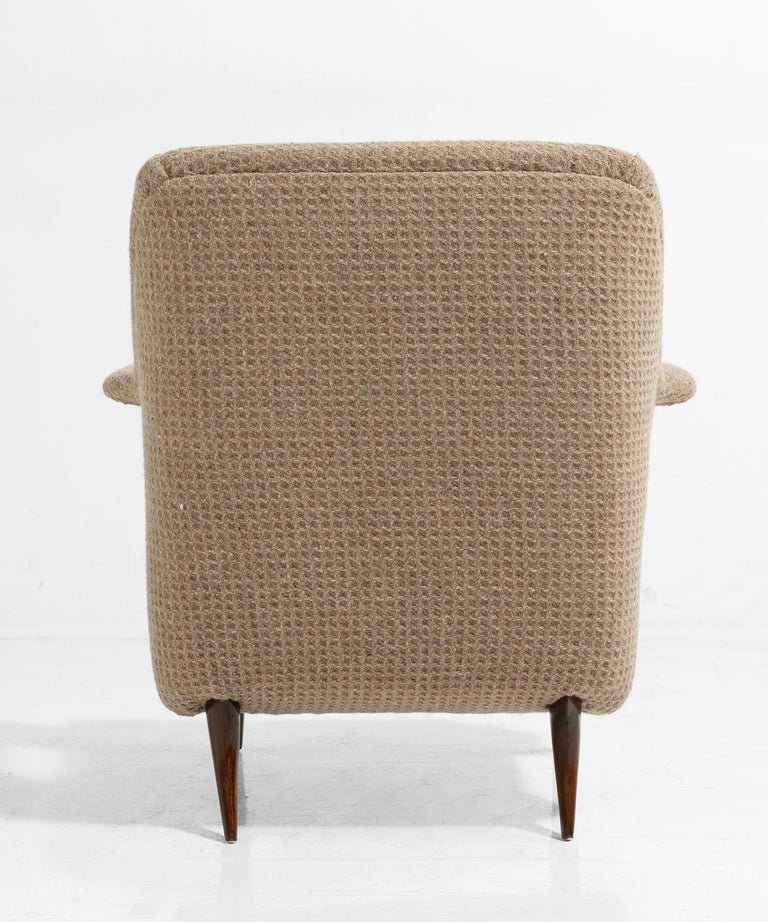 Wool Pair of Italian Armchairs For Sale