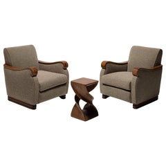 Pair of Italian Armchairs, Italy, circa 1950