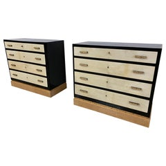 Pair of Italian Art Deco Chests of Drawers, 1930s