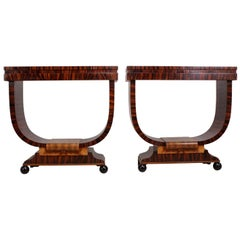 Pair of Italian Art Deco Console Tables, circa 1930