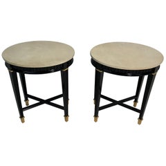 Pair of Italian Art Deco Parchment Side Table