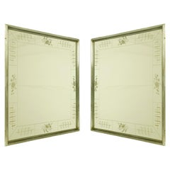 Pair of Italian Art Deco Recessed Mirrors by Enzo Tradico for Brusotti