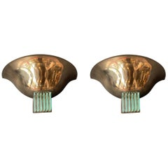 Pair of Italian Art Deco Sconces