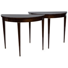 Art Deco Demi-lune Tables
