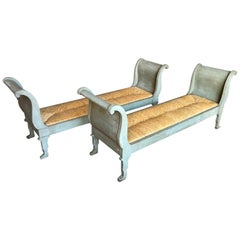 Pair of Italian Banquettes in Painted Wood