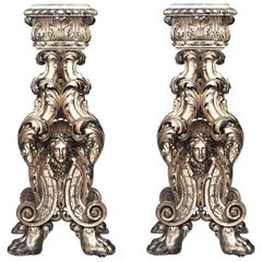 Pair of Italian Baroque Style ' 19th Century' Gilt-wood Pedestals