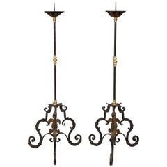 Pair of Italian Baroque Torcheres