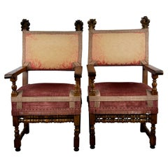 Pair of Italian Baroque Chairs
