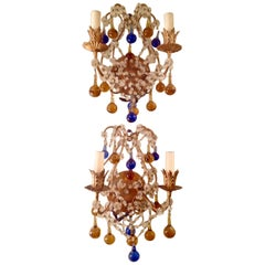 Pair of Italian Beaded Sconces