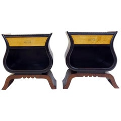 Pair of Italian Bedside Art Deco Style