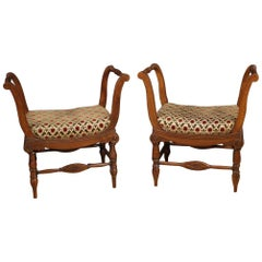 Pair of Italian Benches from the Charles X Era