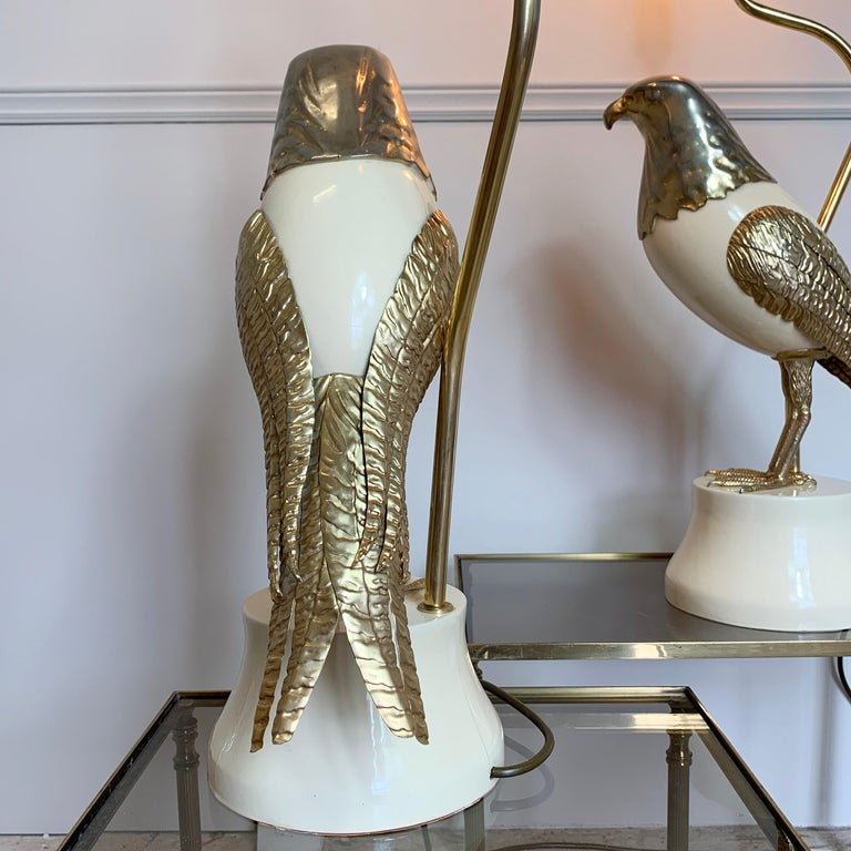 Pair of Italian Bird of Prey Table Lamps, 1960s For Sale 4