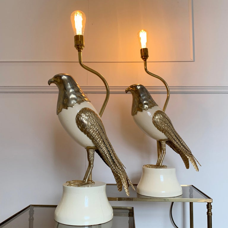 Pair of Italian Bird of Prey Table Lamps, 1960s For Sale 5