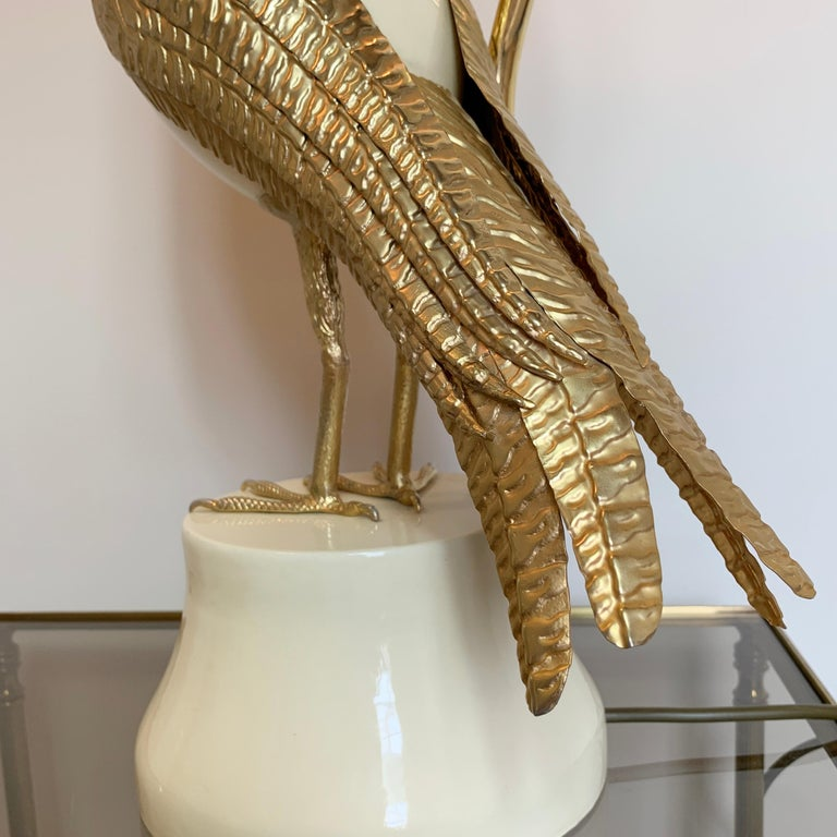 20th Century Pair of Italian Bird of Prey Table Lamps, 1960s For Sale