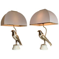 Pair of Italian Bird of Prey Table Lamps, 1960s