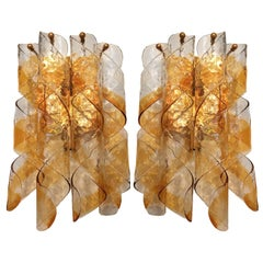 Pair of Italian Blown Glass Sconces