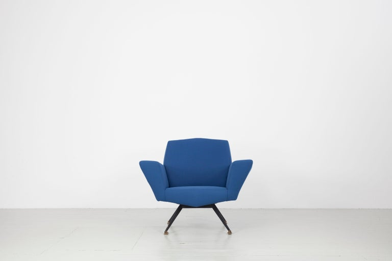 Geometric pair of armchairs from the 1950s. The