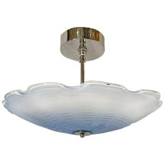 Pair of Italian Blue Ombre Glass Light Fixtures, Sold Individually