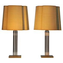 Pair of Italian Brass Table Lamps